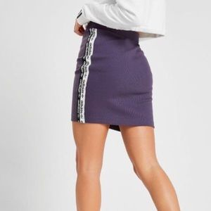 New - Adidas Originals Ribbed Side Tape Mini Skirt